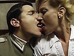 This vintage pornography contains scenes in which nubile Italian honeys penetrate with old men in 3-somes.