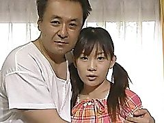 Super-cute Japanese nubile smashes old man with her wooly honeypot and it looks indeed pretty and hot.