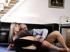 Glam eurobabe assfucked in classy threesome