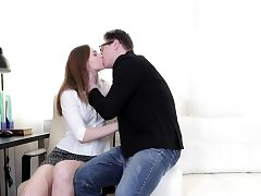 Pretty teen Ariadna gets ass-fuck at the office