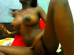 Impressive Black Teen show all on Web cam