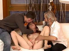 Dark-haired licks and fucks aged man beauty the senior nick