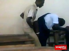 teenager african students fucking doggstyle in class
