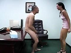 Perverted chicks get horny while busting and slapping scrotum