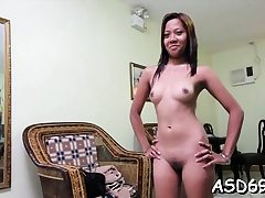 Thai whore favors a fellow with penis sucking and riding