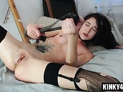 Steaming sex industry star spanking and jizz shot
