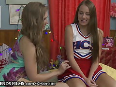 GirlfriendsFilms Lena Paul Guides Bashful Cheerleader