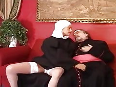 Old priest plow a youthfull and sexy nun.
