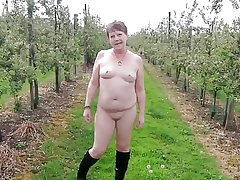Saucy Naked Stroll Through an Apple Orchard