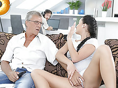 DADDY4K. Cumshot in mouth culminates nice fuck-fest of daddy and..