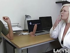 Doctor Lacey Starr inspects 18yo with tongue and playthings