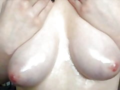 Now and then lubricant flash 20 - 24 year senior Roxy greased up