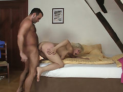 Cheating hump with hot blonde mother-in-law