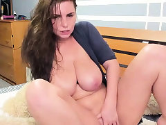 Huge Tits Teen Ultra-kinky Pussy Caressing on Cam