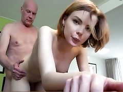 Youthfull babe gets drilled rock hard by old dude