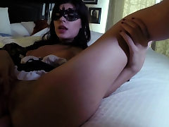 crony's stepdaughter footjob under table Swalloween Fun