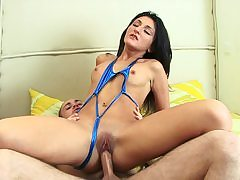 Dark-Haired loves bootie riding